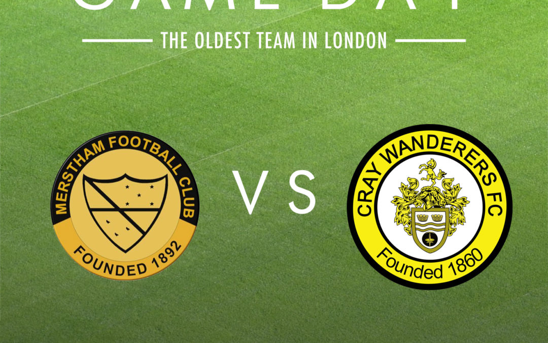 Merstham vs Cray Wanderers – Tuesday 15th October, 7.45pm – Match Preview & Directions