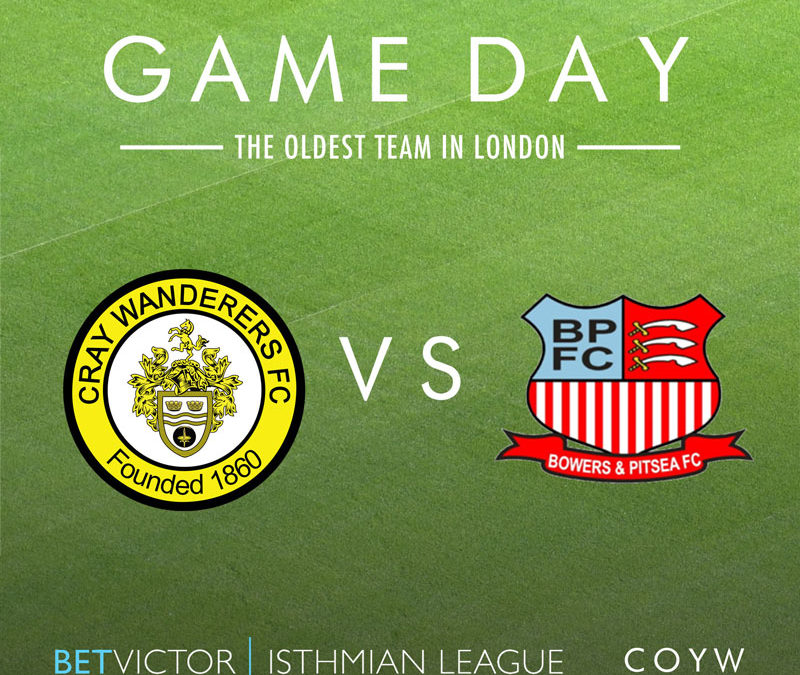 Cray Wanderers vs Bowers & Pitsea – 2/10/19, 7.45pm – Match Preview