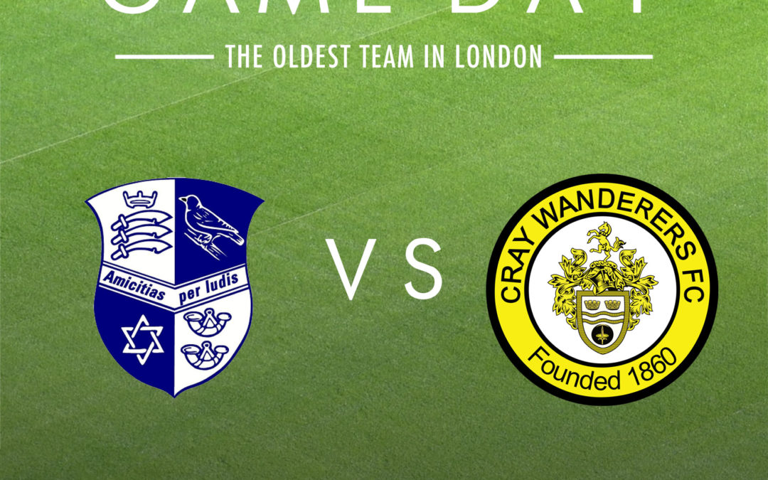 Wingate & Finchley vs Cray Wanderers – Tuesday 12th November, 7.45pm – Match Preview & Directions