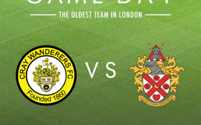 Cray Wanderers vs Hornchurch, new rearranged date 8/1/20 & Velocity Cup vs Worthing date