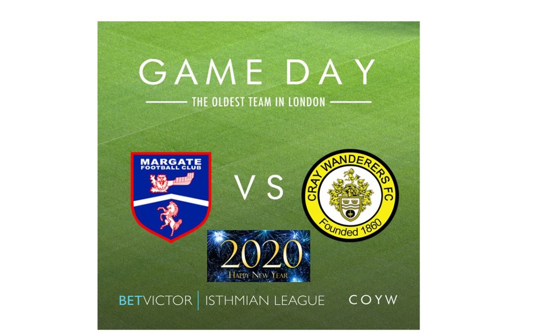 Margate vs Cray Wanderers – Isthmian Premier, New Year's Day, 3pm – Match Preview & Directions