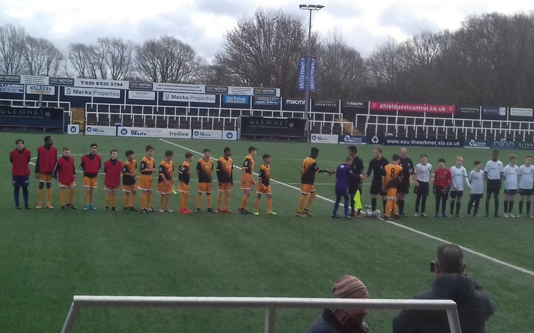 Cray Wanderers Youth Extra – U13s Kent County Cup Semi – Final – Bromley U13s v Cray Wanderers U13s