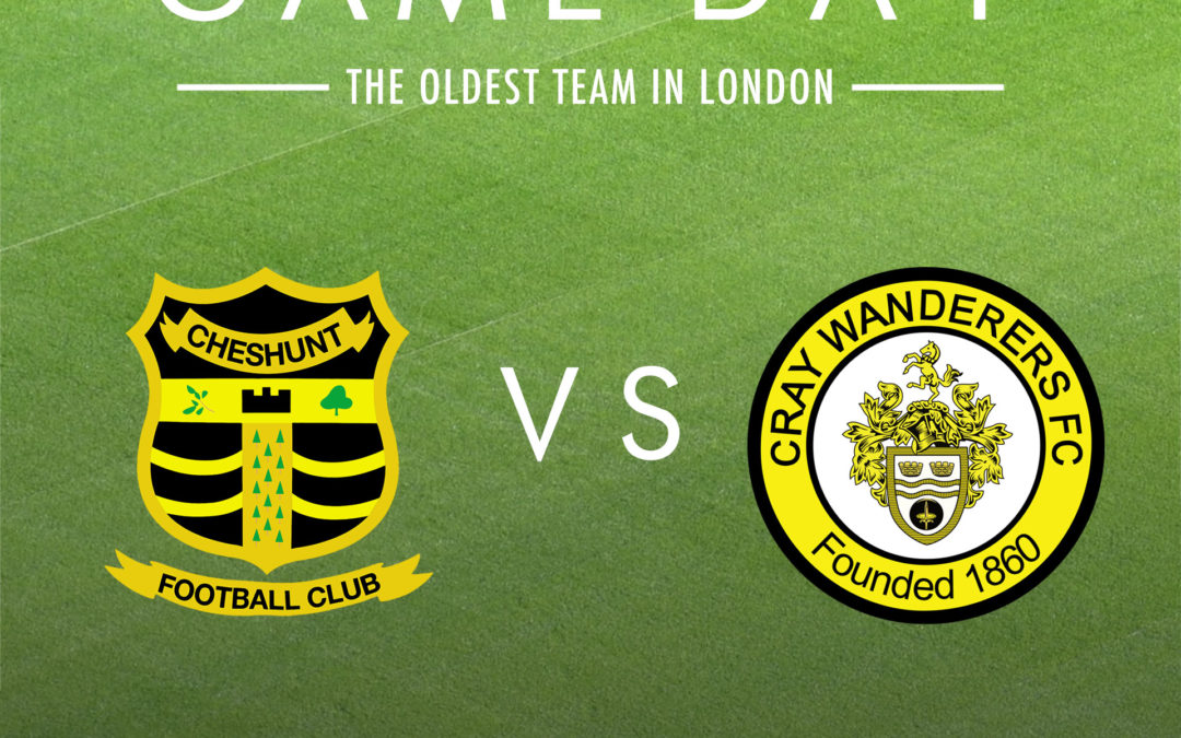 Cheshunt vs Cray Wanderers – BetVictor Isthmian Premier – Saturday 14th March, 3pm – Match Preview & Directions