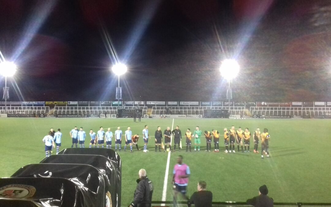 Cray Wanderers 2019-20 – That was the season that wasn't – Pictorial Review – League Match 9 – Cray Wanderers vs. Bowers & Pitsea