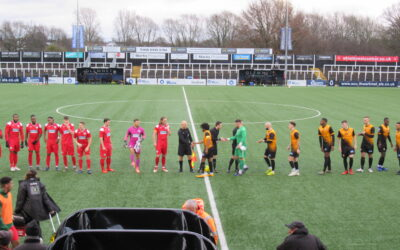 Cray Wanderers 2019-20 – That was the season that wasn't – Pictorial Review – League Match 21 – Cray Wanderers vs. Leatherhead, 26/12/19