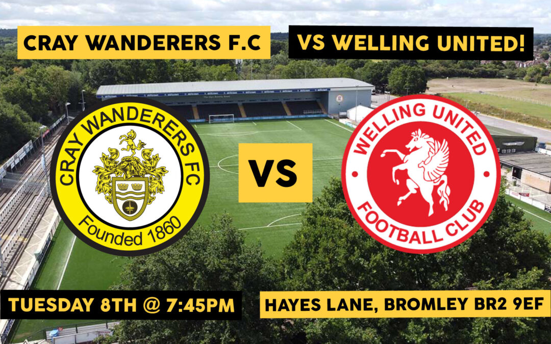 Cray VS Welling – Tues 8th – K.O @ 7:45pm – Tickets Here!