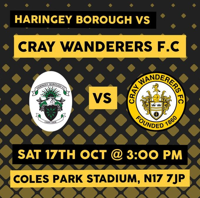 Haringey Borough 1 Cray Wanderers 3 – Pitching In Isthmian Premier, 17/10/20 – Match Report
