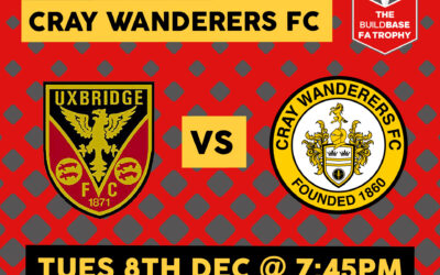 Uxbridge vs Cray Wanderers – FA Trophy 1st Round – Tuesday December 8th, 7.45pm