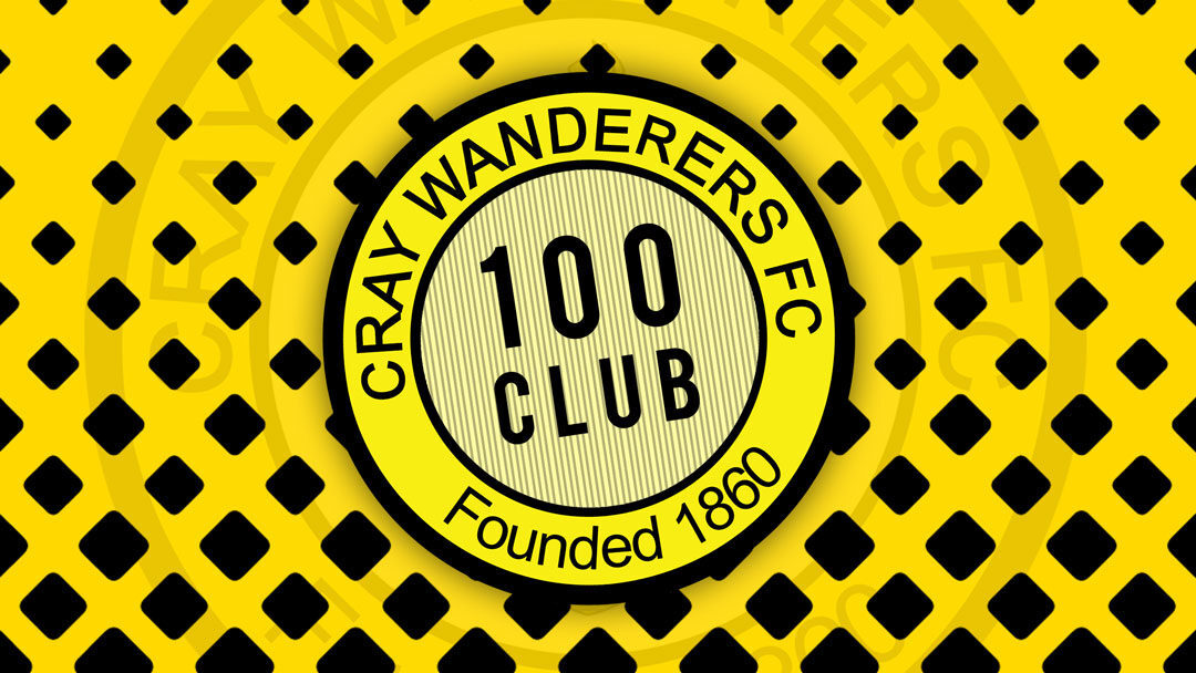Cray Wanderers 100 Club Draw Result for September