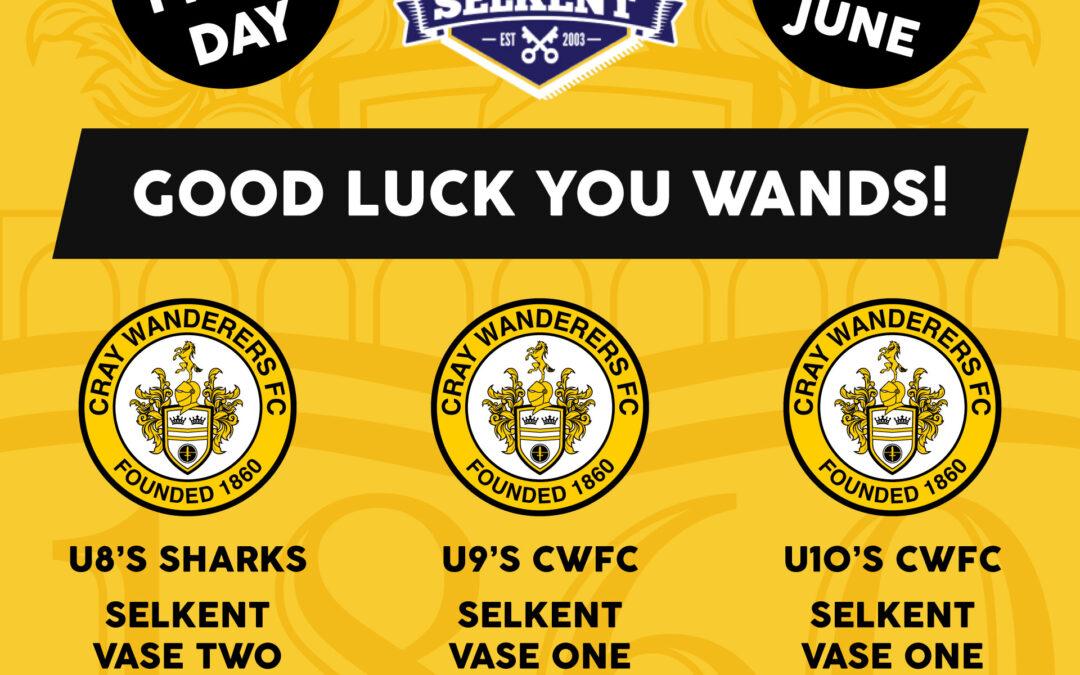 Selkent Vase Finals Day Report – Three Cray Wanderers teams in Vase Finals