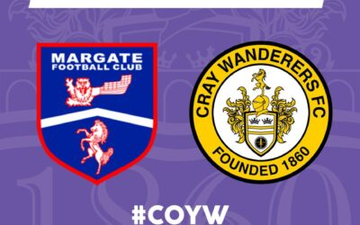 Margate vs Cray Wanderers – Isthmian Premier, Monday 30th August, 3pm – Match Preview & Directions