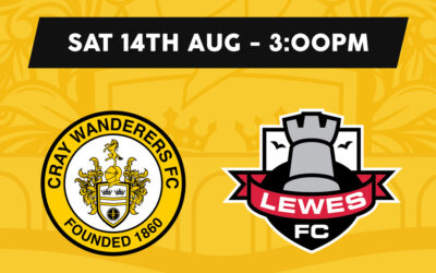 Cray Wanderers vs Lewes – Isthmian Premier – Saturday 14th August, 3pm – Match Preview