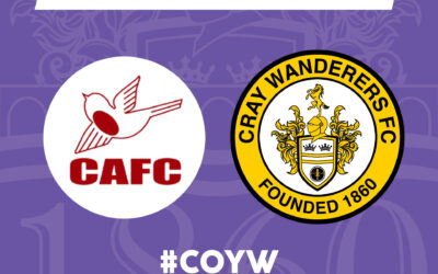 Cray Wanderers fixture update – new date for Carshalton Athletic and FA Youth Cup details