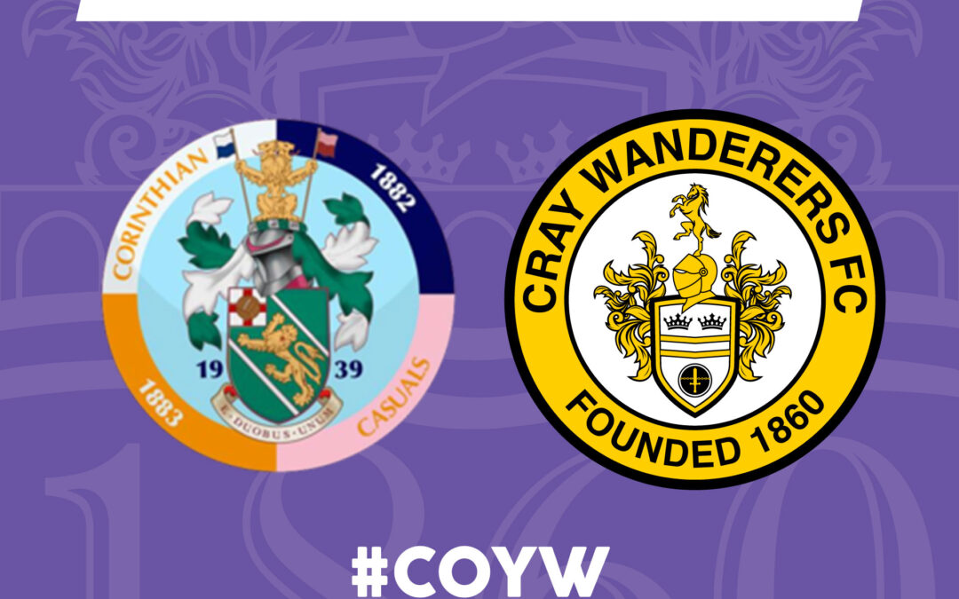 Corinthian Casuals vs Cray Wanderers – Isthmian Premier – Tuesday 14th September, 7.45pm – Match Preview and Directions