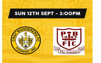 Cray Wanderers vs Potters Bar Town – Isthmian Premier – Sunday 12th September, 3pm – Match Preview