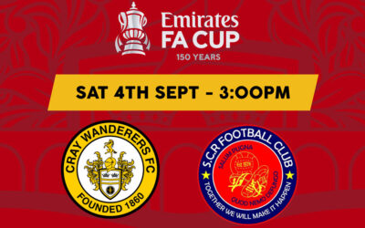 Cray Wanderers vs Sutton Common Rovers – FA Cup 1QR – Saturday 4th September, 3pm – Match Preview