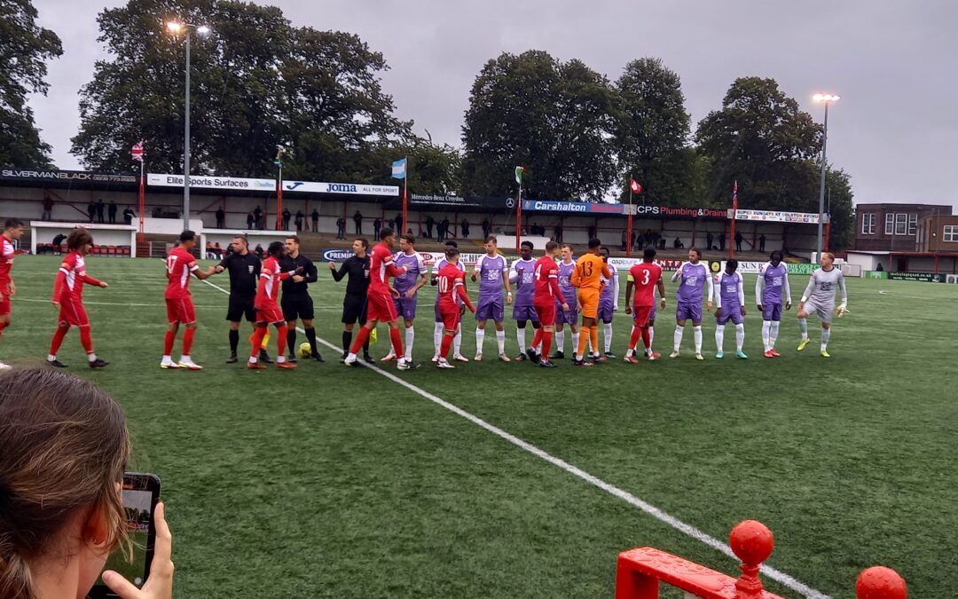 Carshalton Athletic 1 Cray Wanderers 3 – Isthmian Premier, 2/10/21 – Match Report
